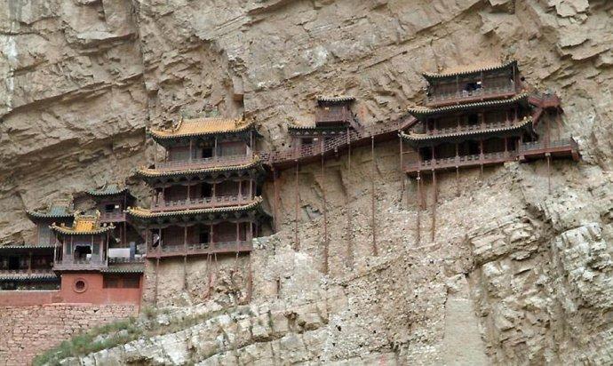 绝对震撼,绝壁逢生的寺庙建筑 - 清 雅 -    清     雅博客