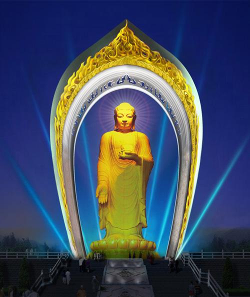 太神奇,由图为证:庐山建世界最高阿弥陀佛像,多次出现佛光瑞相 - 莲池佛地 - 莲池佛地