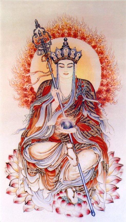 地藏王菩萨画像|地藏王菩萨是哪里人|九华山地藏王